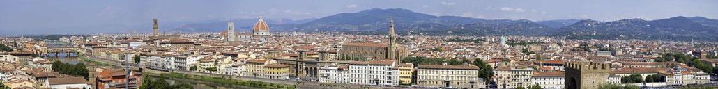 Florenz Panorama von Piazzale Michelangelo aus gesehen