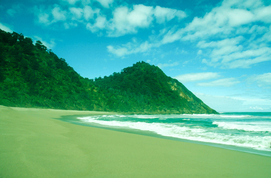 Karamea Beach on South Island of New Zealand