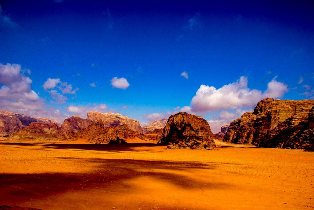 Landscape in Wadi Rum, Jordan