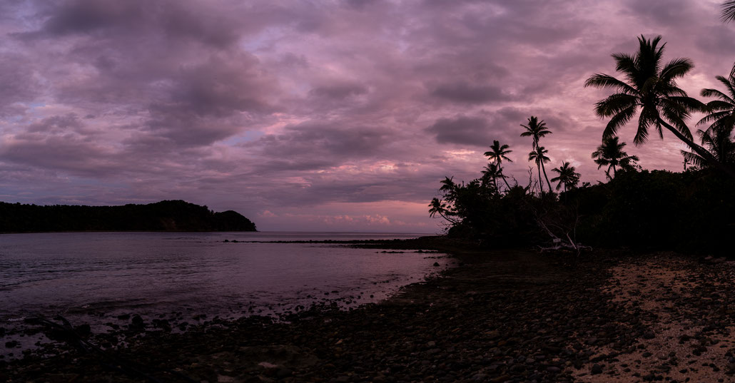 Naukacuvu Island beach, Fji, during sunrise
