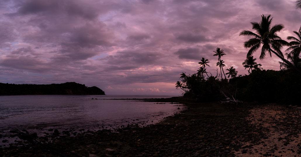 Naukacuvu Island beach, Fji, during sunrise