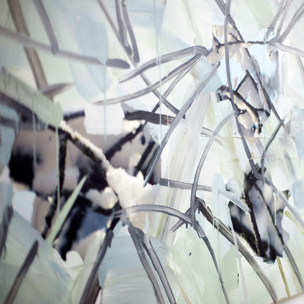 Monika Humm Abstrakte Malerei in Mischtechnik aus der Serie Winter