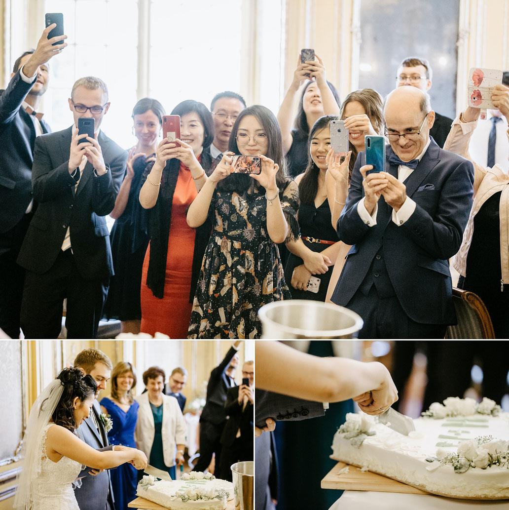 fotografierende Hochzeitsgäste