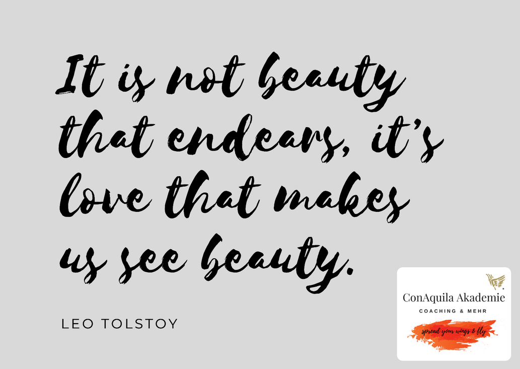 It's not Beauty. Inspirationen, ConAquila, Martina M. Schuster. Coaching Akademie, Bildquelle: Canva Pro.