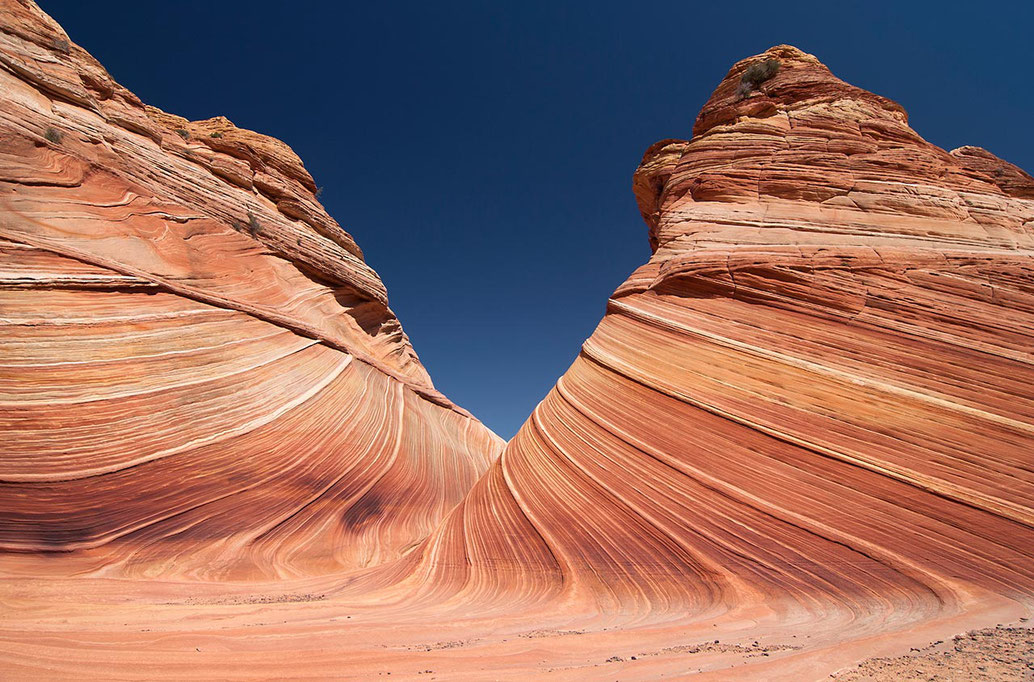 Surreal sandstone structures at the Wave, Coyote Buttes North, Vermillion Cliffs, Arizona, USA, 1280x844px