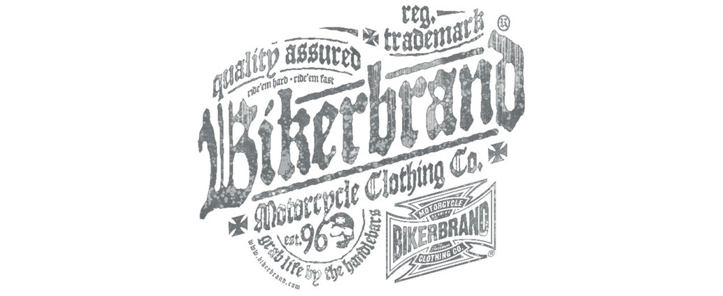 Bikerbrand Shop, biker shirts, distressed bikerbrand design