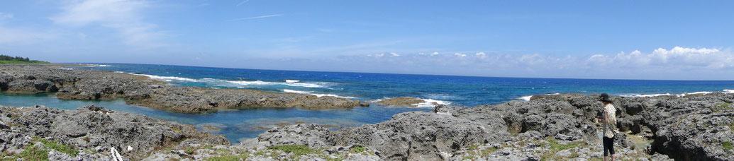 プレアデスと繋がる喜界島の海岸