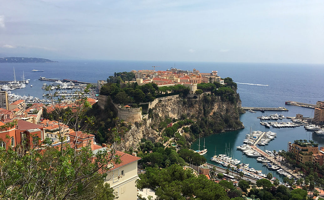 Burg mit Festung, Fürstentum von Monaco