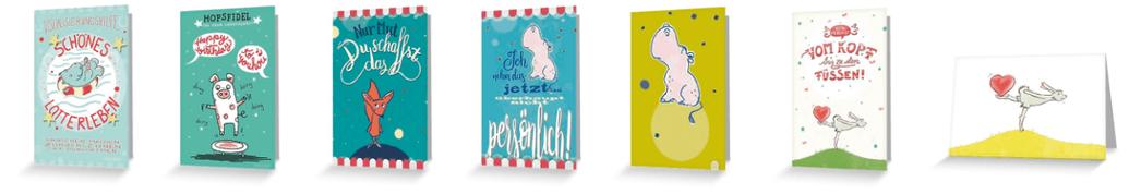 Grußkarten, Klappkarten, Geburtstagskarten, Motivationskarten, Visualisierungshilfe, Hase, Nilpferd, Schwein, Fuchs, Judith Ganter Illustration, Hamburg bei Rannenberg und Friends und Redbubble