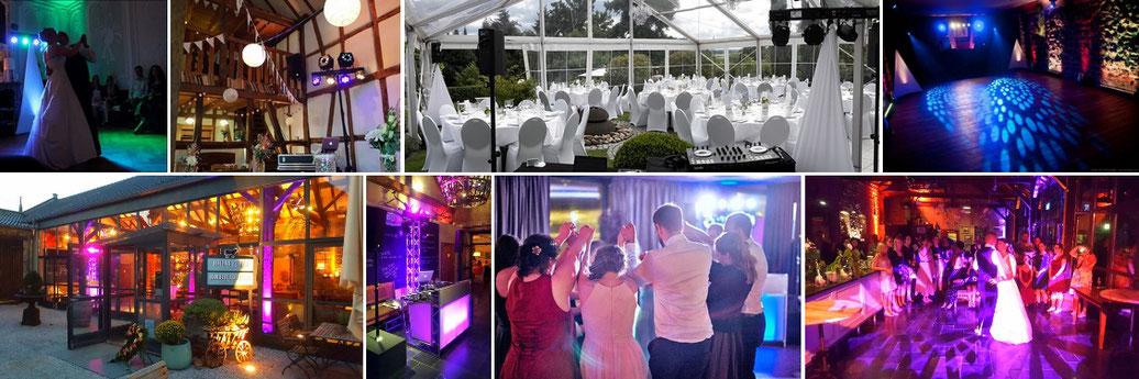 DJ für Hochzeit in Bonn und dem Rheinland, inklusive Ton- und Lichttechnik! 10 Jahre Erfahrung im Bereich Hochzeiten, professionell und zuverlässig! Hier zu sehen: Hochzeit auf Burg Heimerzheim, Burg Flamersheim, Schloss Miel