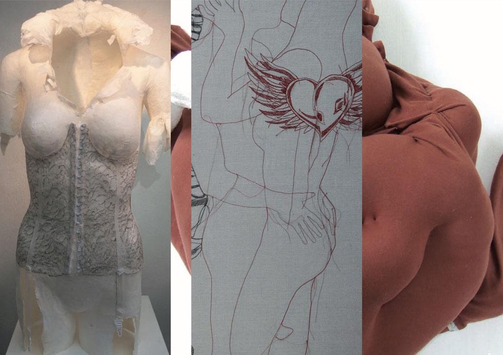 Textile Arbeiten: Ingrid Biberschick-Titiretto • Dagmar Stelzer • Christine Todt