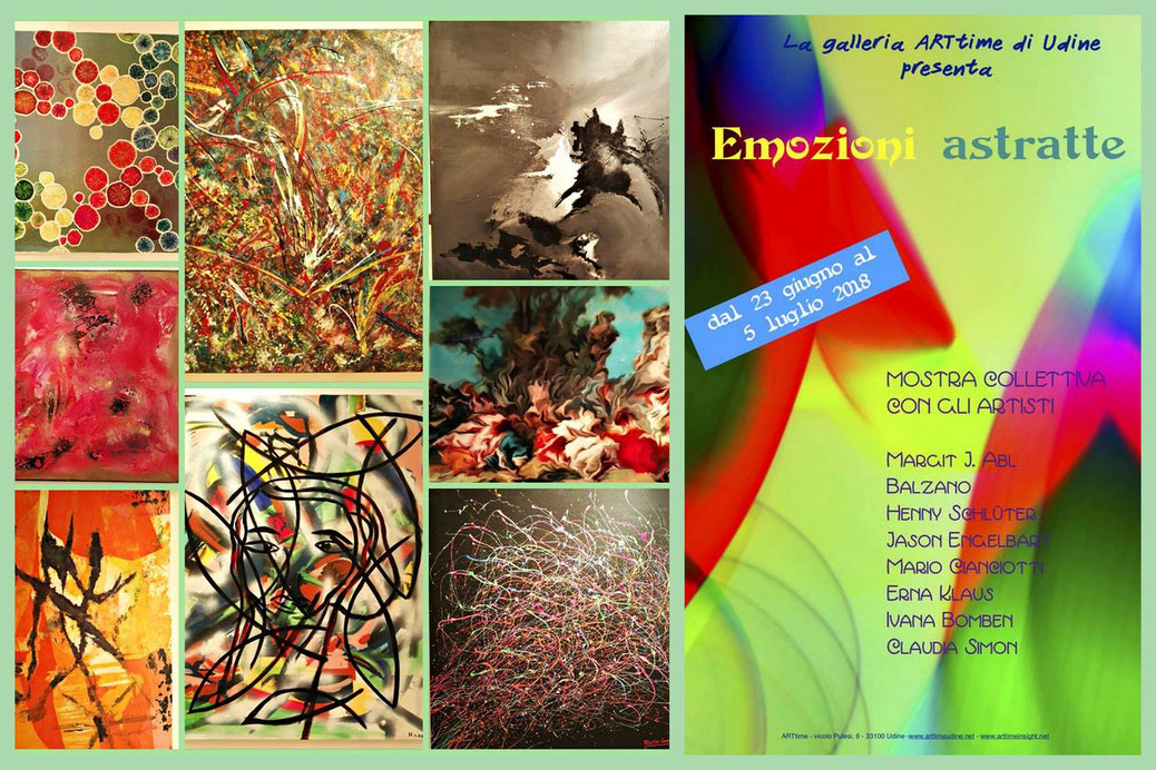 "Ausstellung Galleria ARTtime in Udine: ""Emozioni Astratte"", 23.06. - 05.07.2018"
