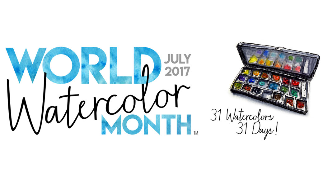 Celebrate World Watercolor Month in July -  31 watercolours in 31 days! Founded by Doodlewash.