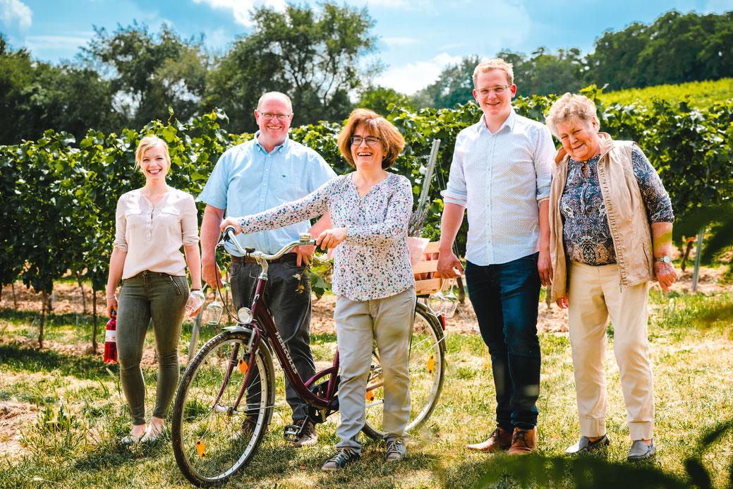 Familienfoto für Weingut im Rhein-Main-Gebiet