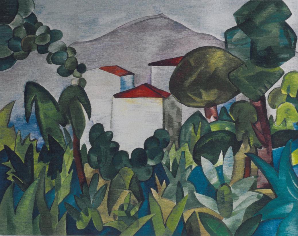 Tessiner Bergdorf - 200 x 170 cm - (nach H. Hesse)