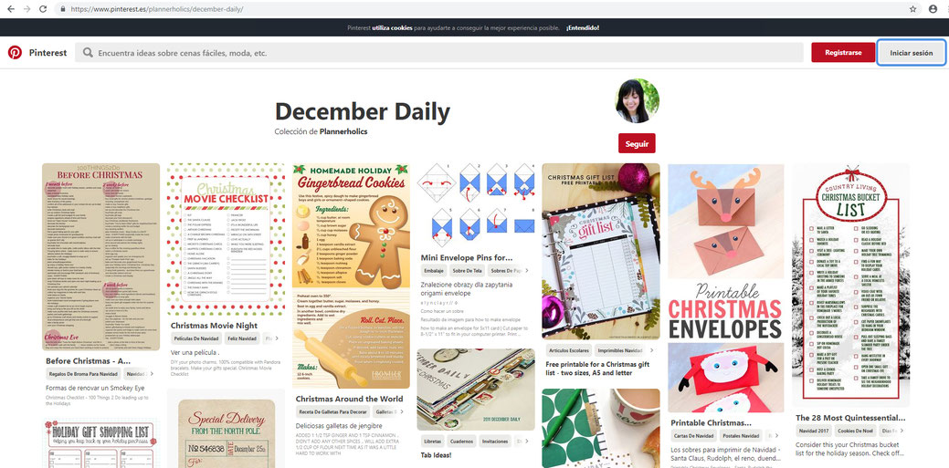December Daily Pinterest Board with ideas and inspiration