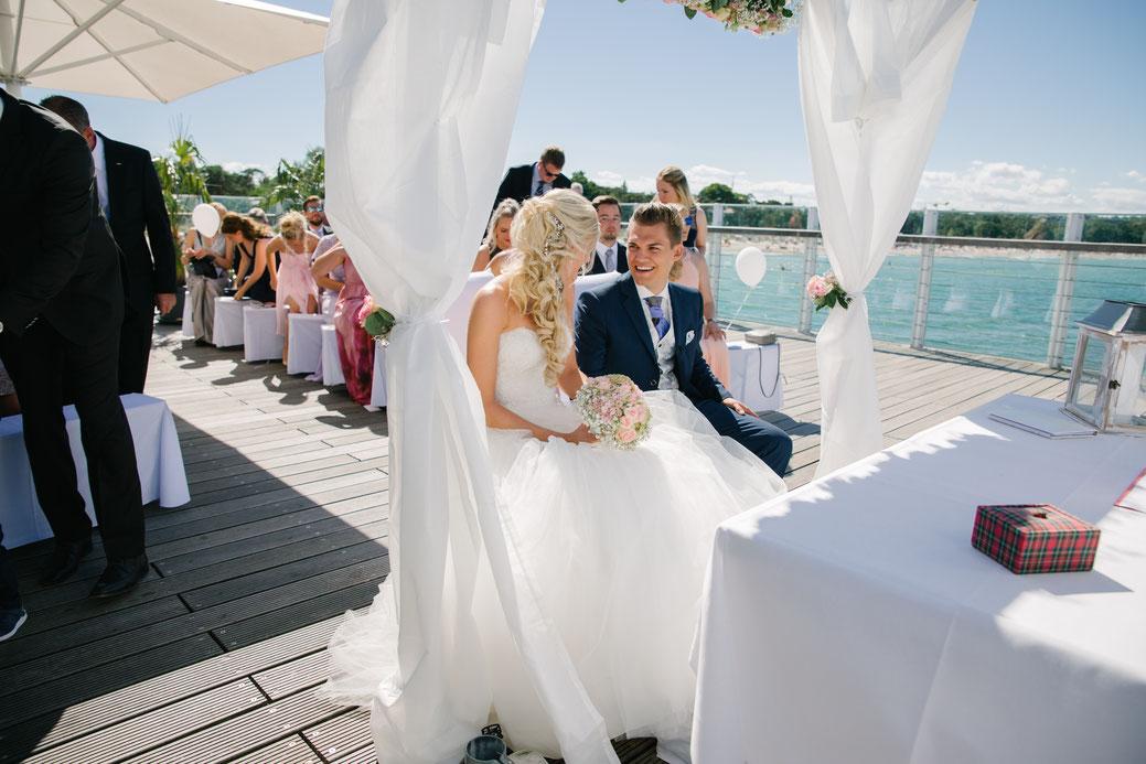 Hochzeit im Juni 2018 im Wolkenlos Timmendorfer Strand