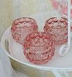 Glas Teelicht Diamant Rosa