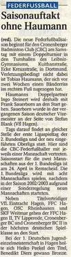 Westdeutsche Zeitung Bericht vom 30.01.2004