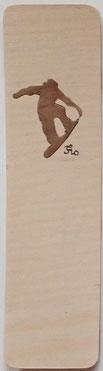 Marque-page Snowboard - 15 x 4 - Atelier Eclats de bois - Isère