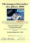 Auerswald zum 1. Mal Telefonanlagen-Hersteller des Jahres!