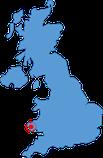 Großbritannien-Karte