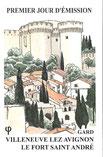 Carte souvenir Premier Jour du timbre sur Villeneuve lez Avignon