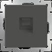 Розетка телефонная RJ-11 серо-коричневый Werkel