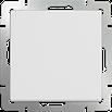 Выключатель одноклавишный проходной белый Werkel