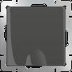 Розетка влагозащищенная с заземлением с защитной крышкой и шторками серо-коричневый Werkel