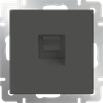 Розетка Ethernet RJ-45 серо-коричневый Werkel