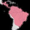 Karte zur Verbreitung der Ameisenvögel.