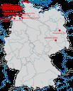 Karte zu den Beobachtungen des Nonnensteinschmätzers in Deutschland