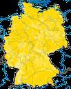 Karte zur Verbreitung des Grauschnäppers in Deutschland