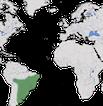 Karte zur Verbreitung des Nandus