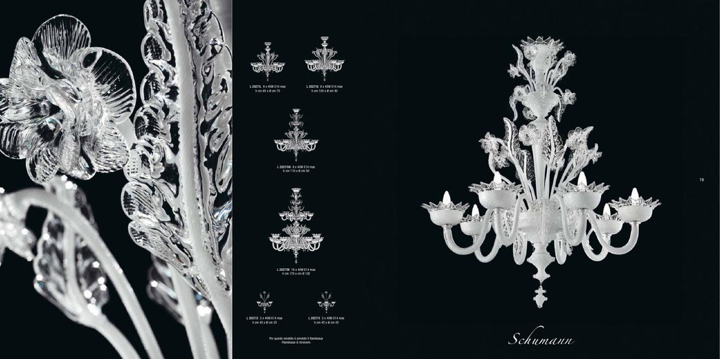 white-Murano-glass-chandeliers