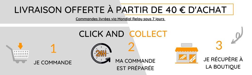 Click and collect, Livraison gratuite