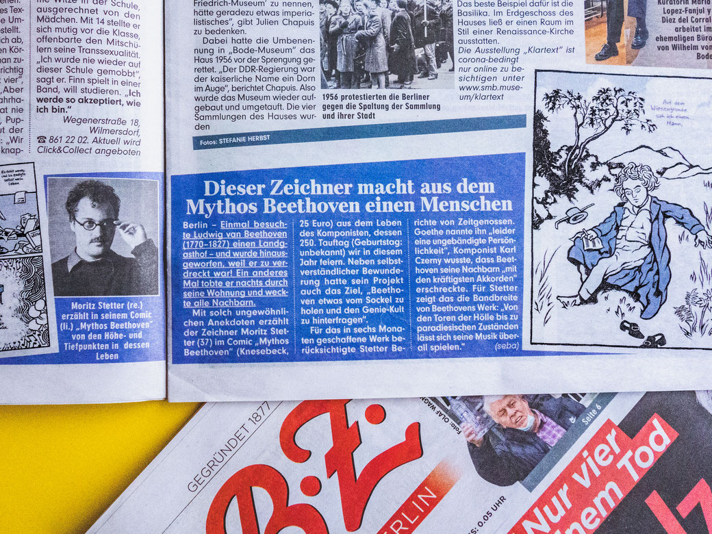 "Moritz Stetter ""Mythos Beethoven"" Graphic Novel, Artikel in der B.Z."