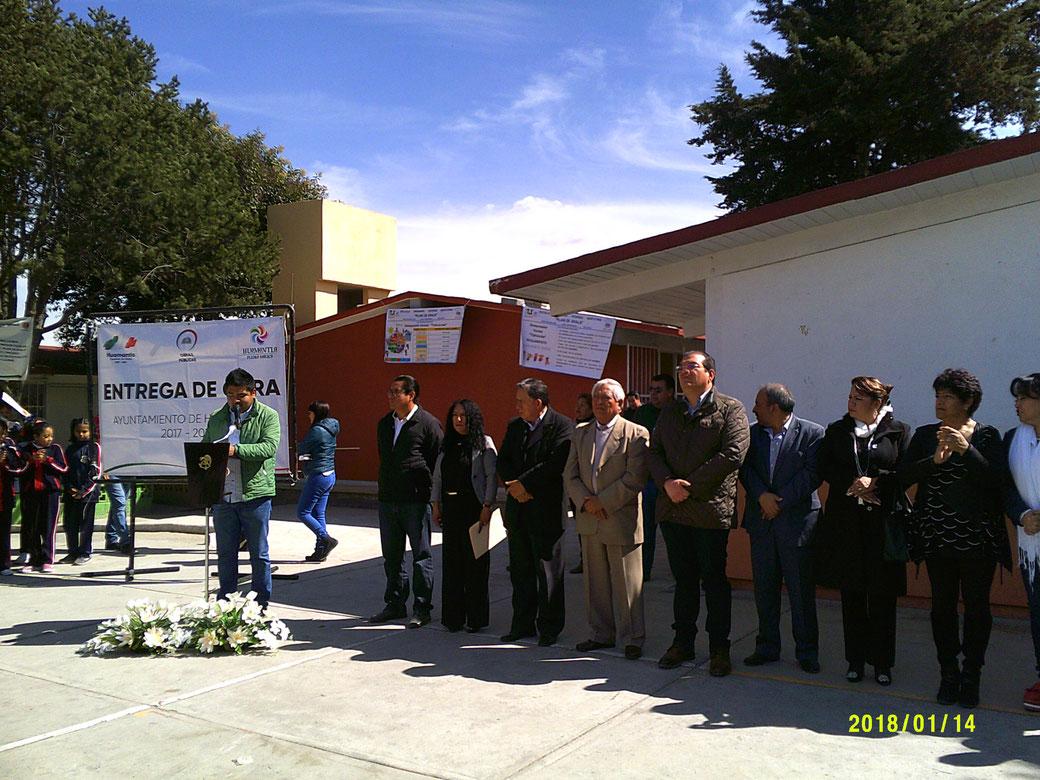 Alcalde de Huamantla, Inaugura comedor Escolar y barda Perimetral en ...