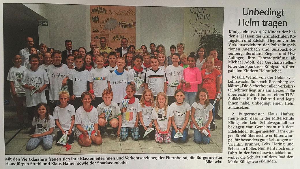Klaus Hafner CSU Königstein Hirschbach Schule Kinder Fahradprüfung