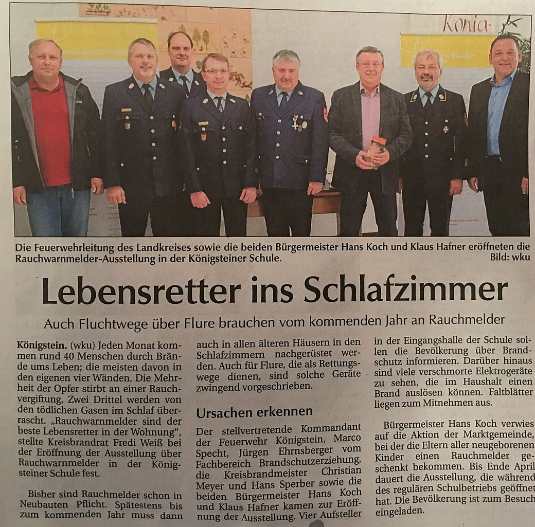 CSU Königstein Hirschbach Klaus Hafner Feuerwehr Königstein