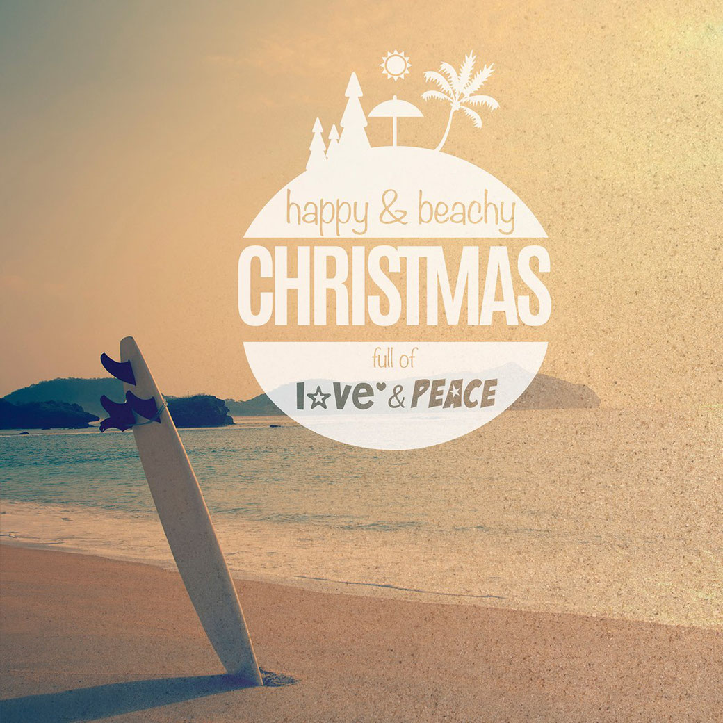 BYRH Beach Bags wünscht Happy + Beachy Christmas und ein neues Jahr 2016 mit ganz viel Love + Peace