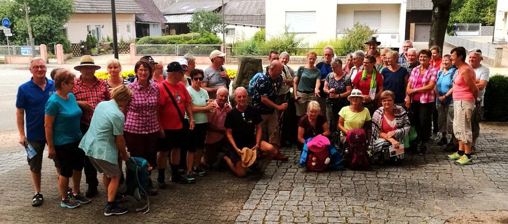 Pilgergruppe in Schutterwald im Juli 2019 von der Hohenzollerische Jakobusgesellschaft e.V.