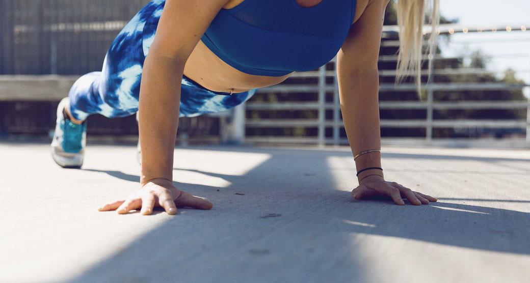 #12x12habits Sport Liegestütz Gewohnheit Leben ändern