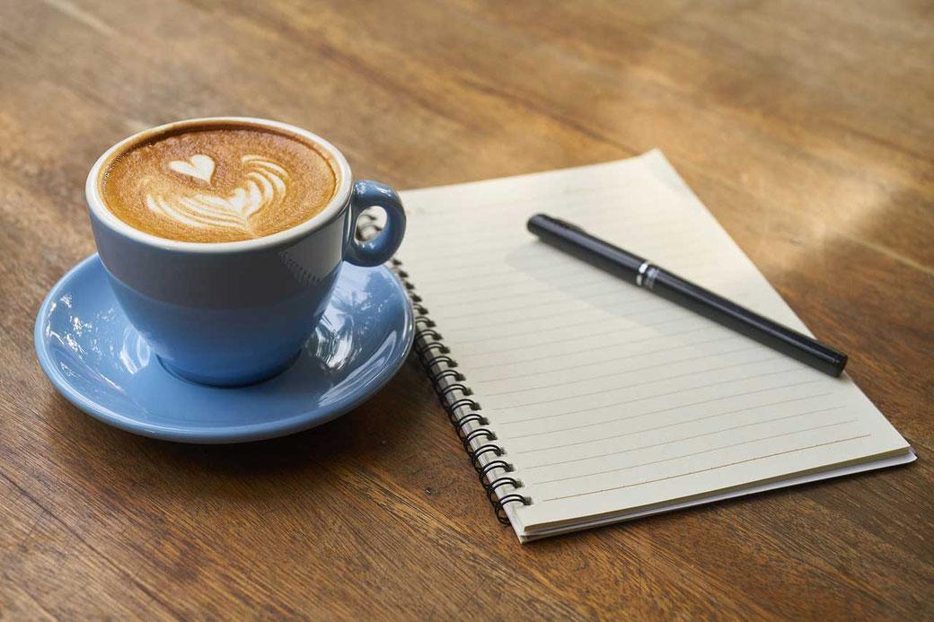 Träume Realität Hindernis WOOP Ziele erreichen Kaffee Notizen