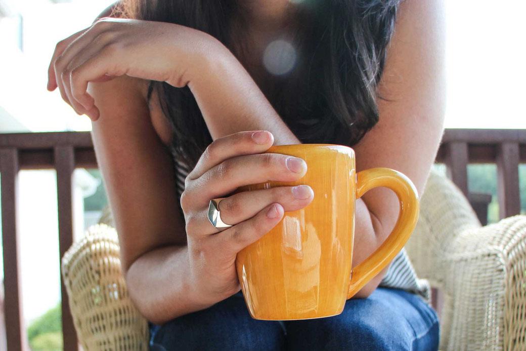 #12x12habits Gewohnheiten ändern Leben ändern Das Blaue im Himmel Kaffetasse Tasse gelb