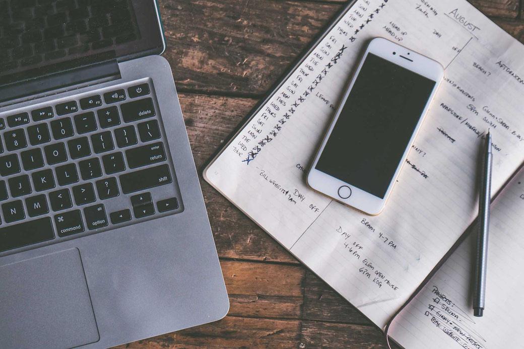 Aufschreiben Notizen Planen Zeitmanagement Selbstmanagement Kalender Apple iPhone Handy