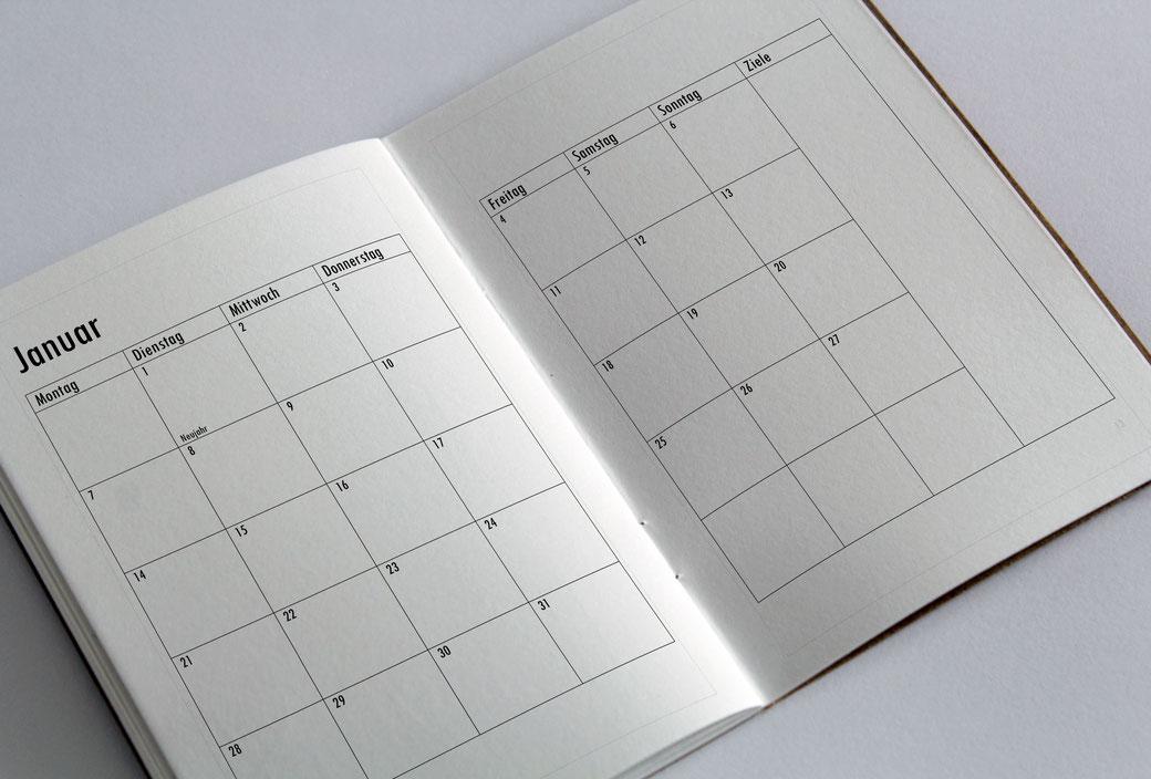 BuJo Bullet Journal Kalender Planer 2019