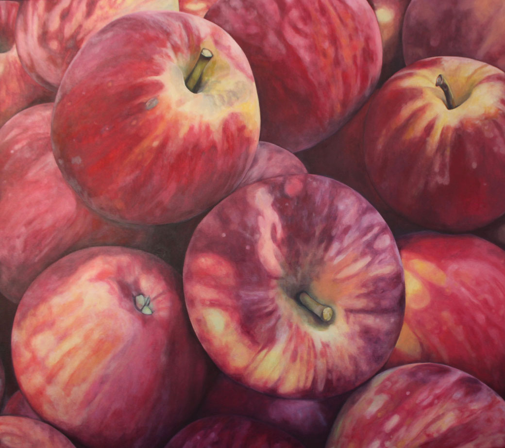 Malus domestica winesap 2017, 90x80cm, oil/canvas