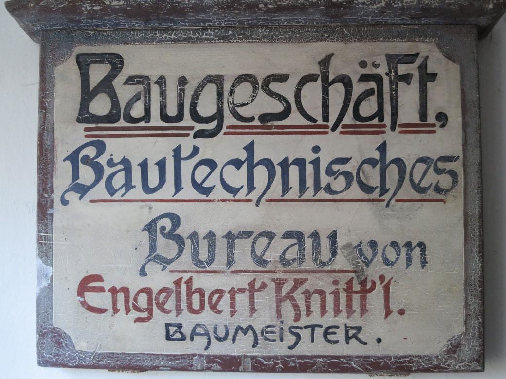 Firmenschild Engelbert Knittl, © Knittl, 2015